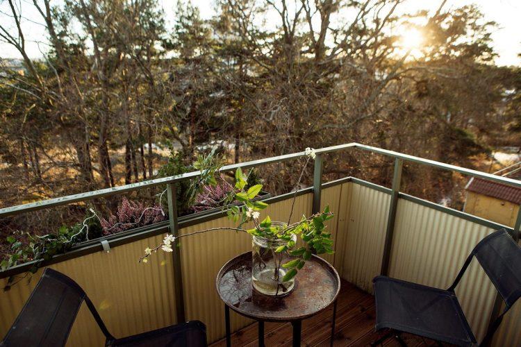 Balcón pequeño