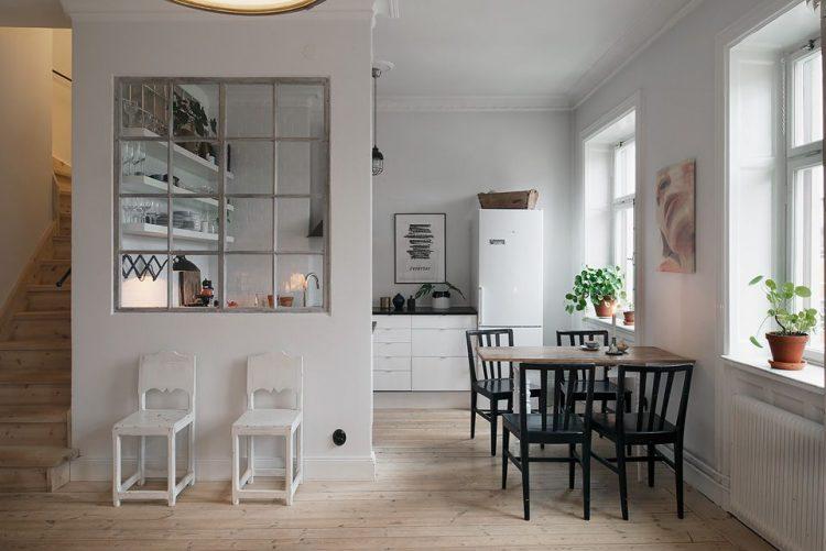 Dúplex pequeño con decoración escandinava y detalles rústicos