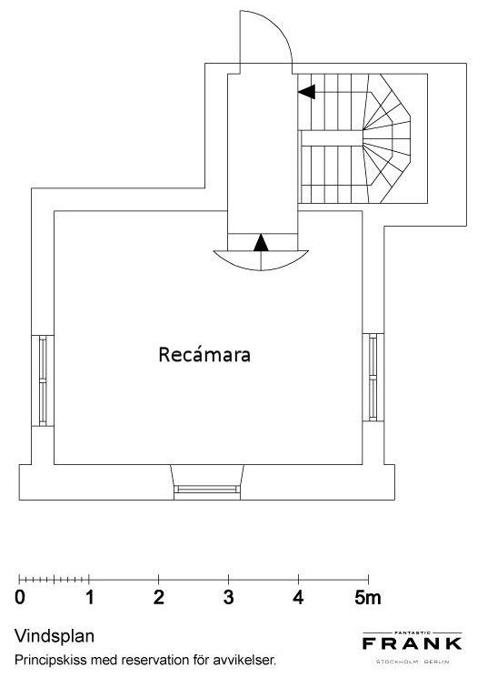 Plano de la planta alta del dúplex