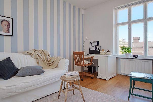 Decoraci n de departamentos 3 ambientes en estilo escandinavo for Arredare stanza studio