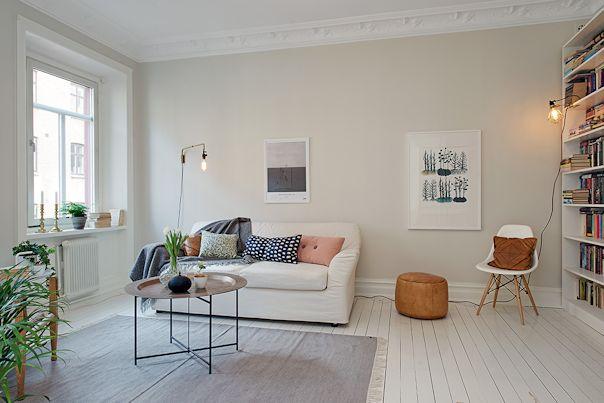 Interiores de departamentos: 61 metros² con decoracion escandinava 1