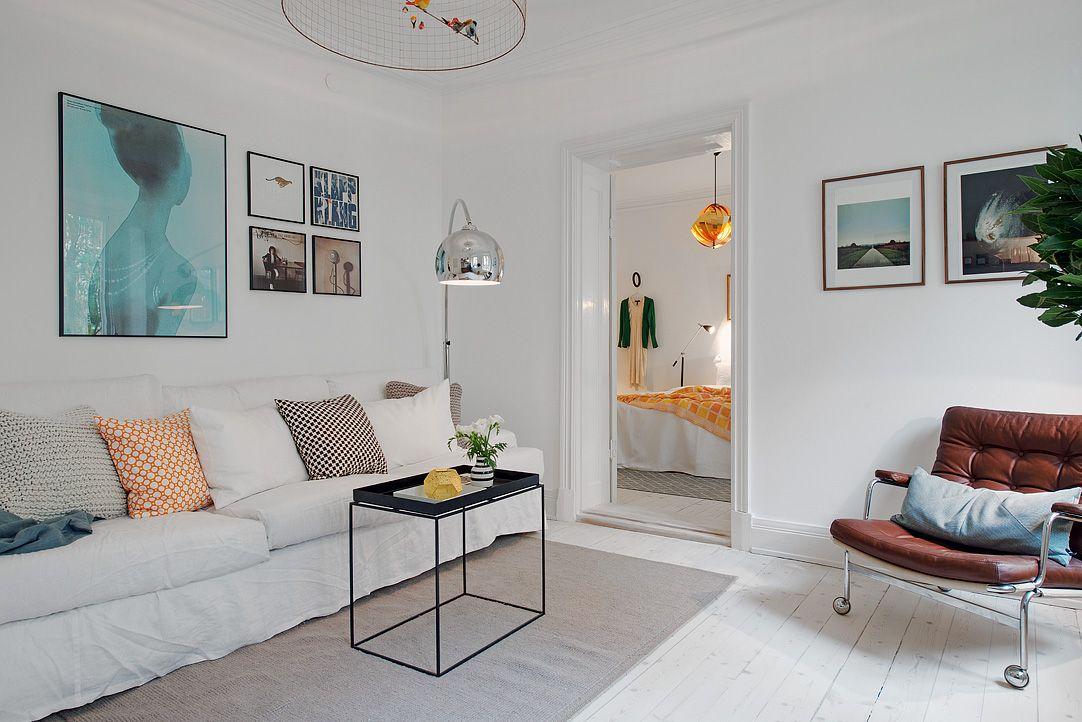Departamento de dos ambientes en estilo escandinavo for Decoracion para minidepartamentos