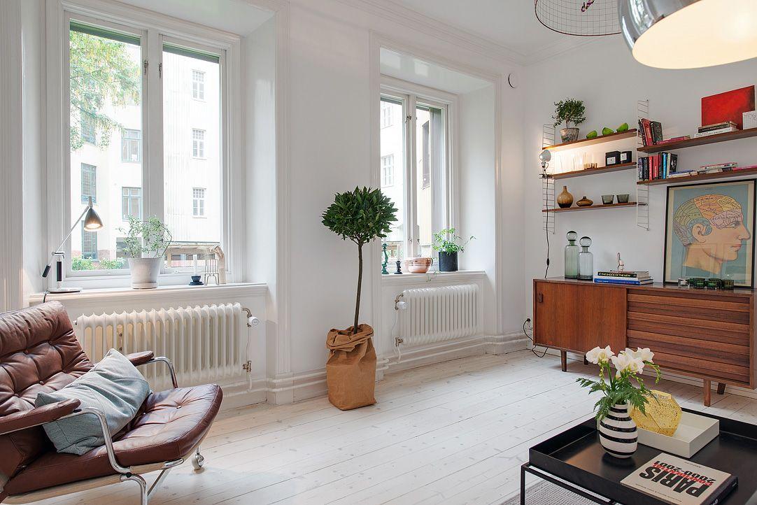 Departamento de dos ambientes en estilo escandinavo for Decoracion moderna departamentos pequenos