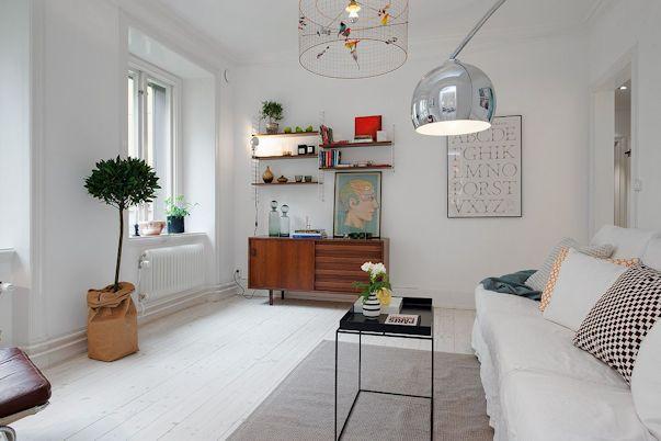 Decoración departamento 2 ambientes estilo escandinavo 3