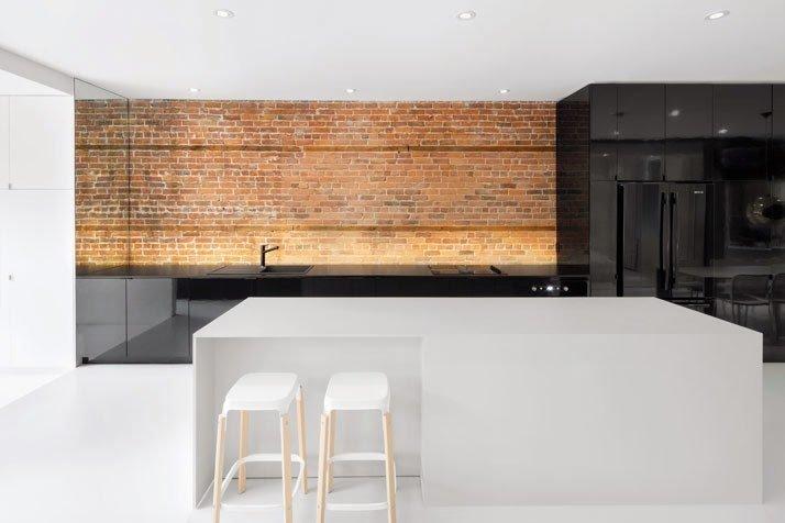 Cocina de diseño moderno y minimalista
