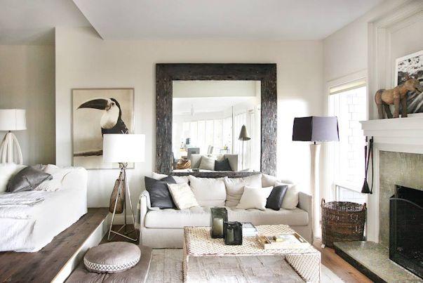 Interiores de casas: decoración con muebles rústicos 1