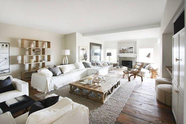 Interiores de casas: decoración con muebles rústicos 2