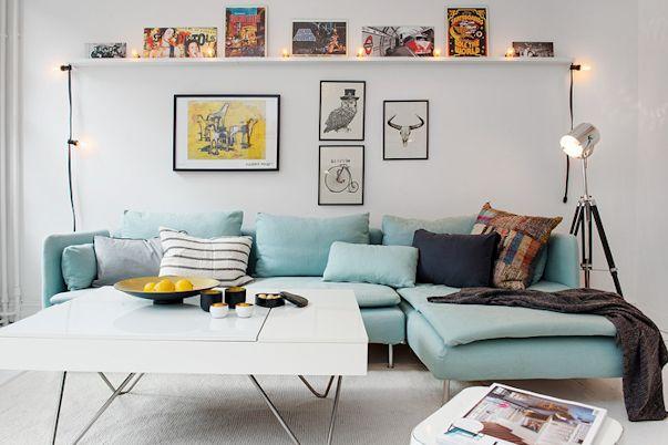 Interiores de departamentos: 57 metros² escandinavos 1
