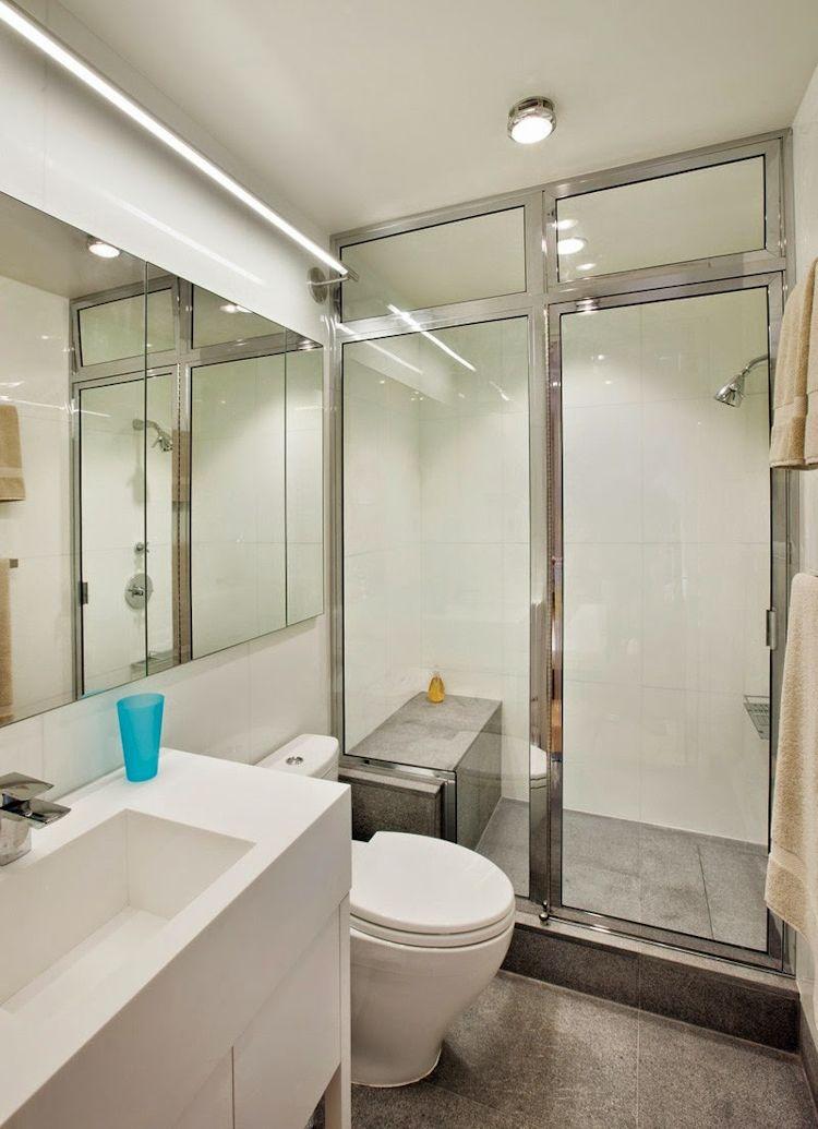 Mampara de cristal para la ducha