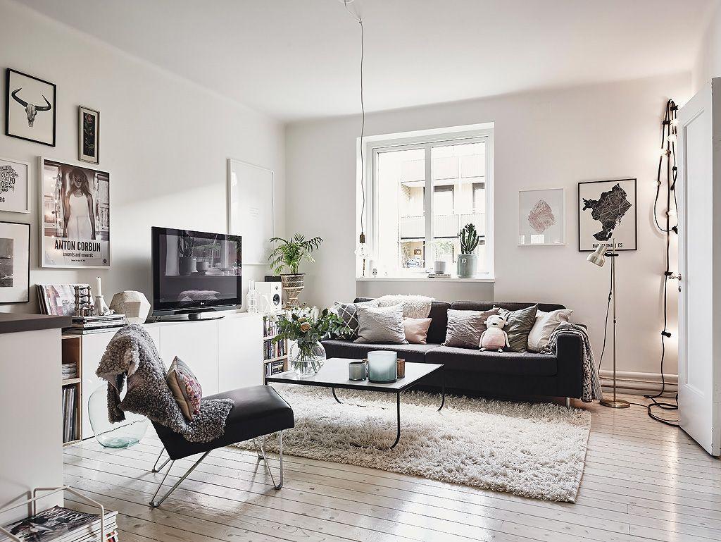 Departamento De 2 Dormitorios Con Decoracion Escandinava - Estilo-escandinavo-decoracion