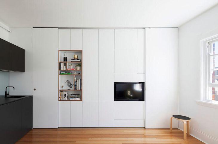 Departamento pequeño minimalista de 27 metros² con mucho diseño