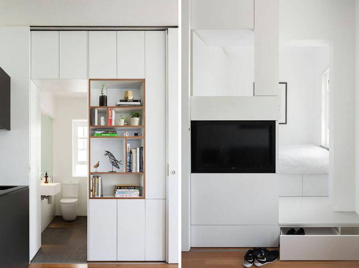 Interiores de un departamento pequeño de 27 metros² con mucho diseño 3