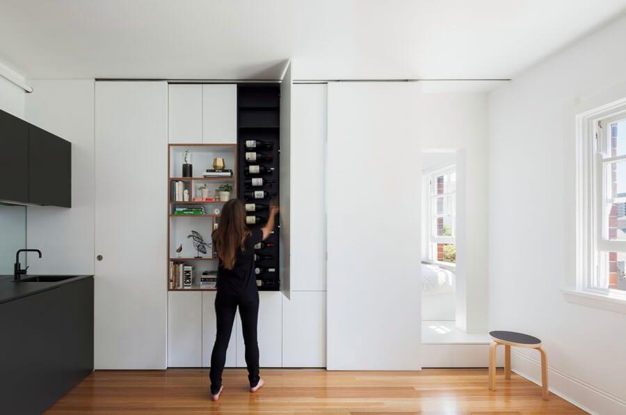 Departamento pequeño minimalista con mucho diseño