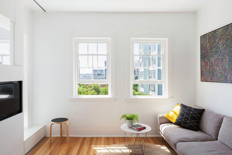 Departamento peque o minimalista con mucho dise o for Decoracion minimalista para departamentos