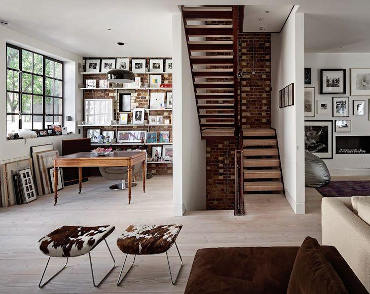 Diseño contemporáneo en una casa estilo loft