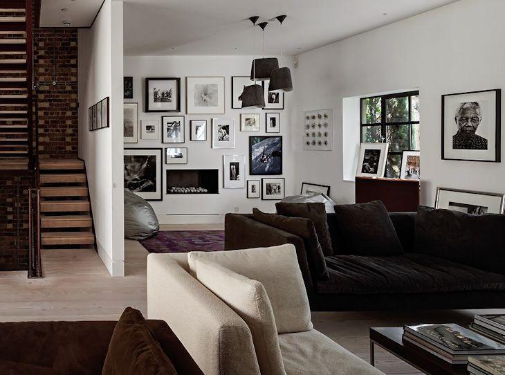 Cuadros en la decoración de la casa estilo loft
