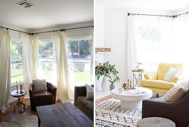 Antes y después en la decoración de la sala 2