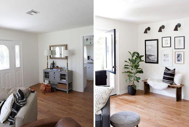 Antes y después en la decoración de la sala 3