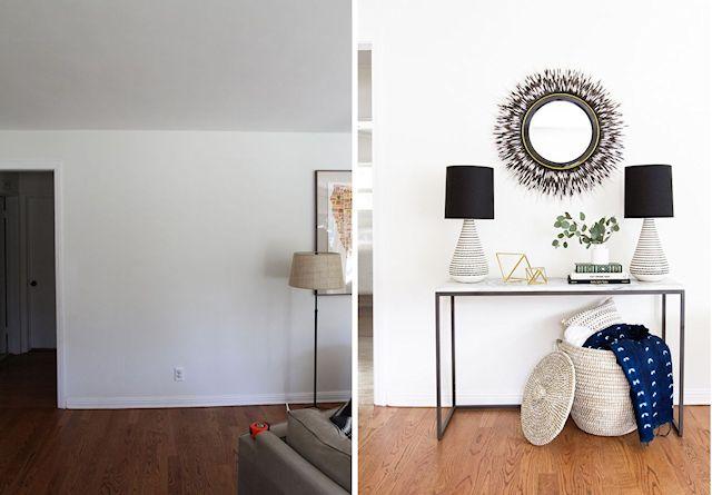 Antes y después en la decoración de la sala 4