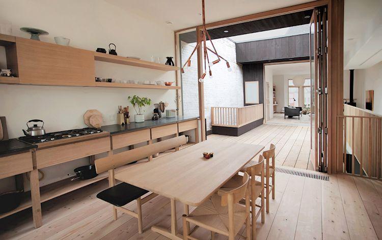 Diseño minimalista en una casa de inspiración japonesa