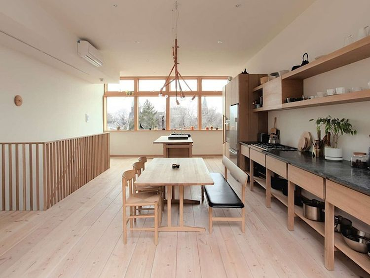 Cocina minimalista de inspiración japonesa y escandinava