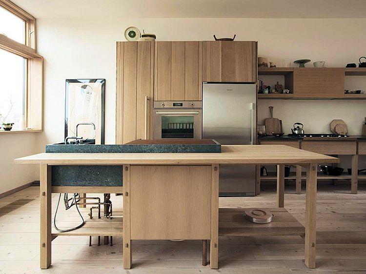 Cocina de diseño minimalista con isla de cocica