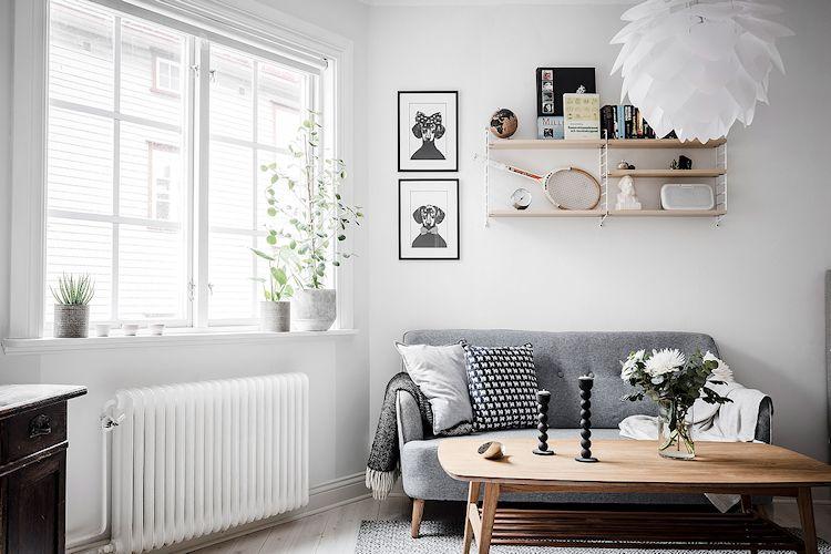 Colores neutros y las diferentes tonalidades de la madera crean un espacio de estilo nórdico masculino.