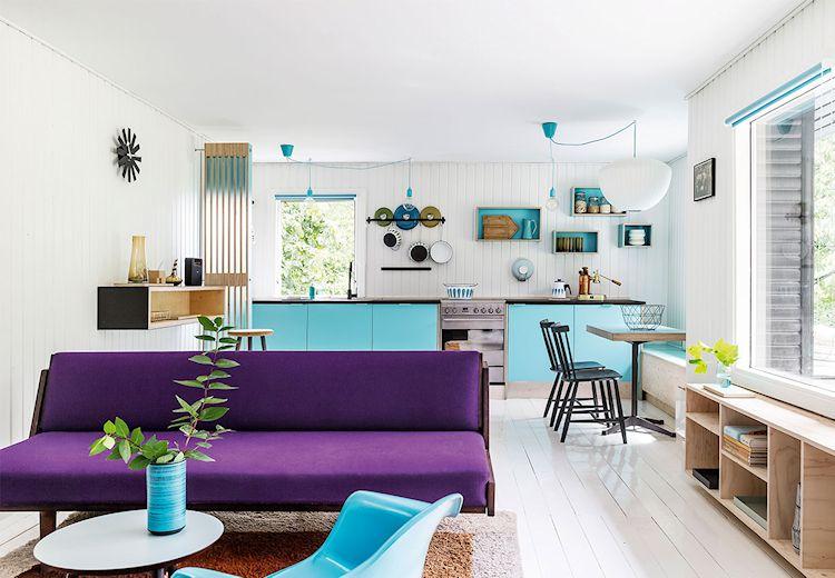 Decoración de casas pequeñas: 55 metros² y mucho color