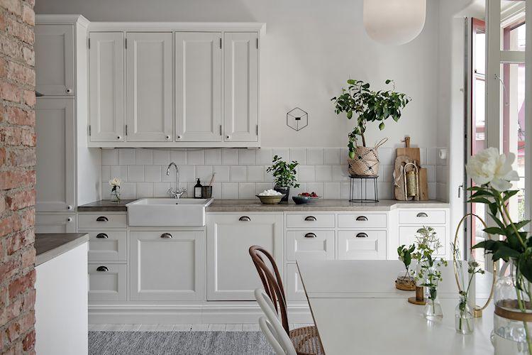 Departamento escandinavo con cocina abierta de diseño
