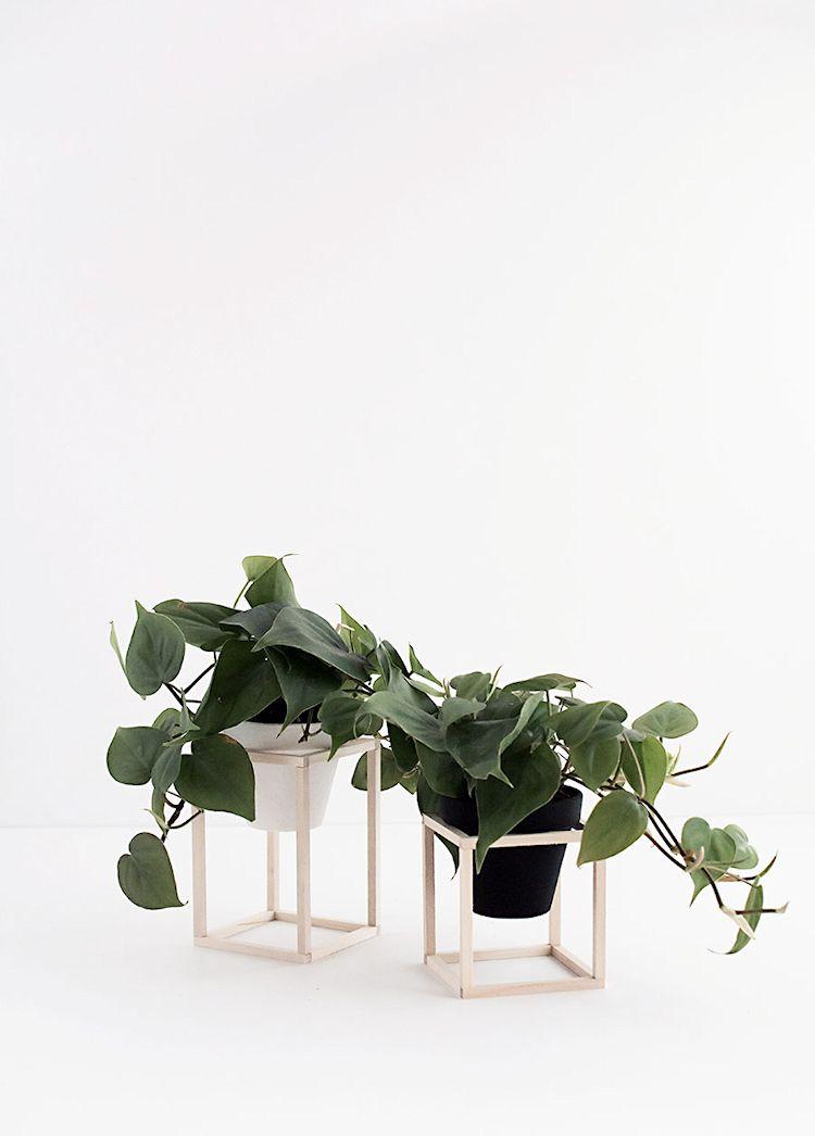 DIY - Hazlo tú mismo: maceteros minimalistas de madera 1