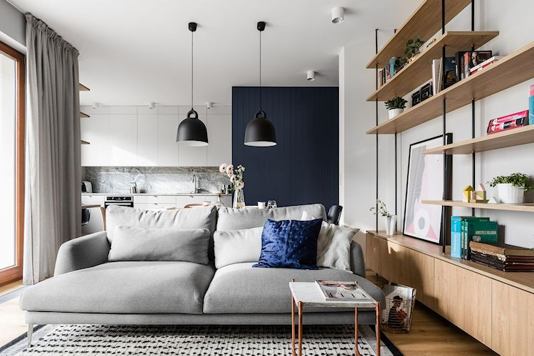 Diseño de interiores de departamentos: estilo escandinavo moderno