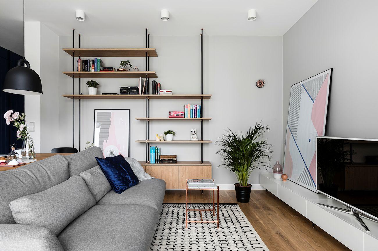 Interiores de departamentos estilo escandinavo moderno for Diseno interior departamento