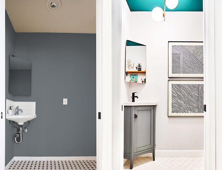 Antes y después en la decoración de un baño pequeño
