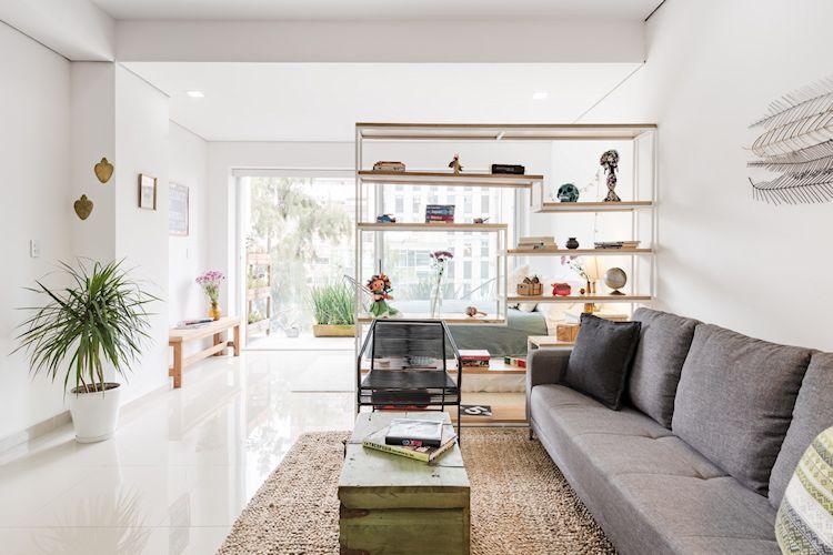 Ideas para separar espacios con libreros