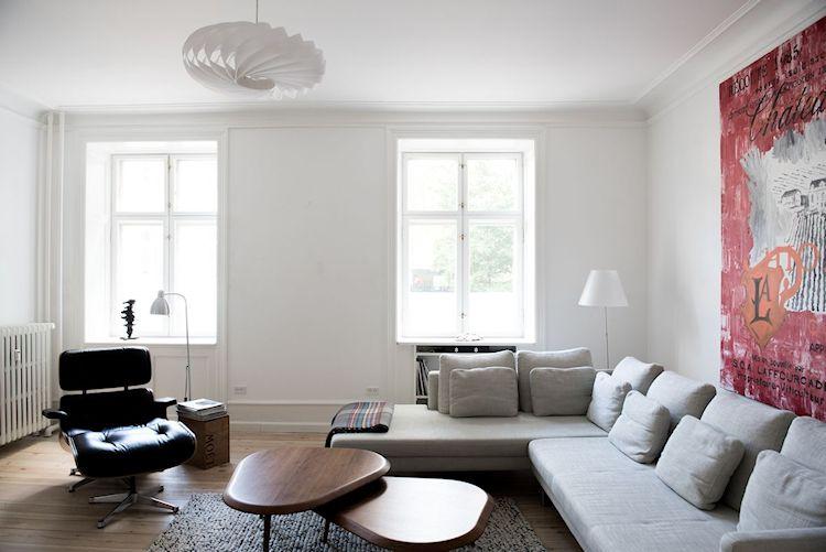 Interiores de departamentos: hogar con diseño moderno escandinavo 1