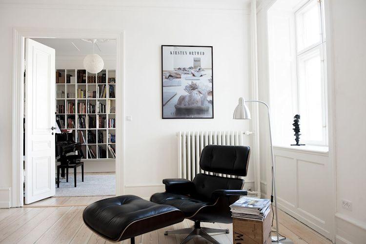 Interiores de departamentos: hogar con diseño moderno escandinavo 3