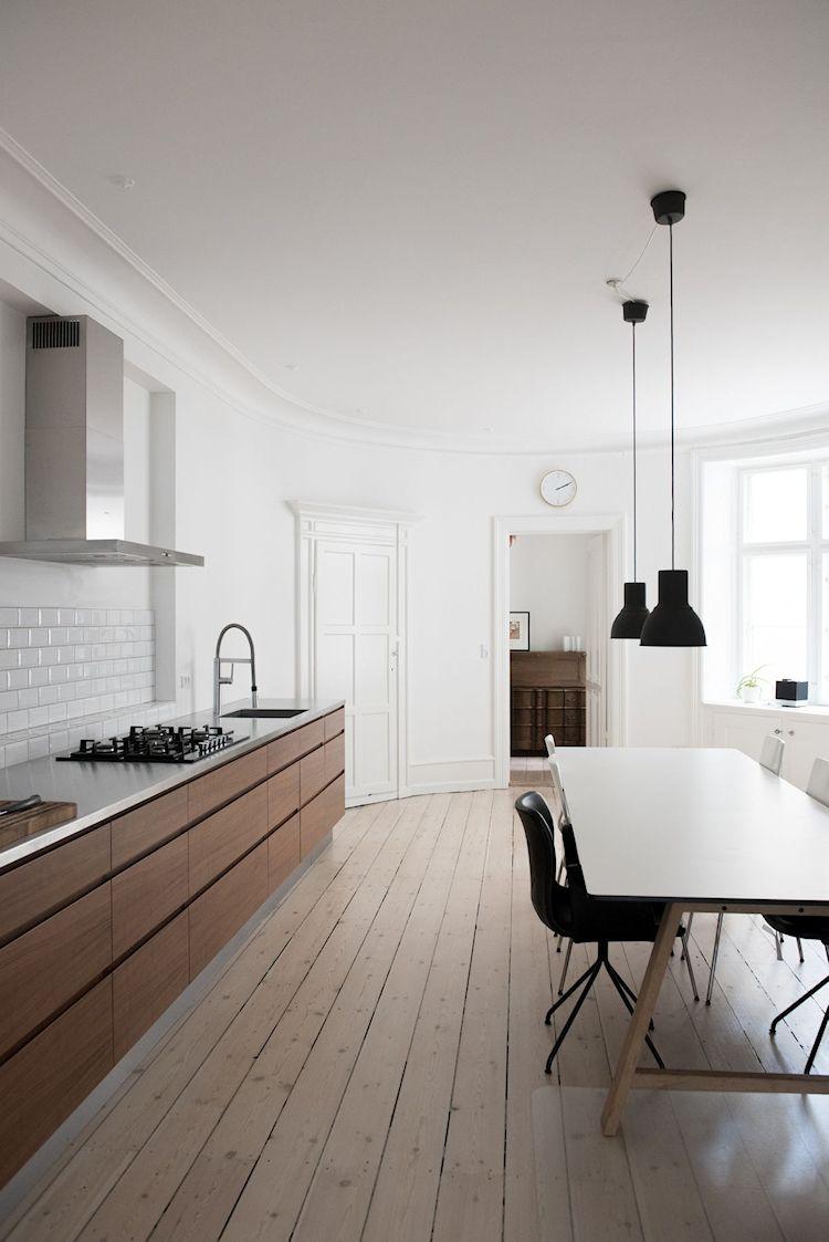 Interiores de departamentos: hogar con diseño moderno escandinavo 8