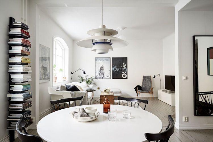 La mesa redonda de comedor ayuda a optimizar el espacio y mejorar la distribución de los muebles