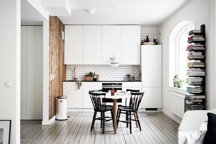 Interiores escandinavos en un departamento de 49 metros²