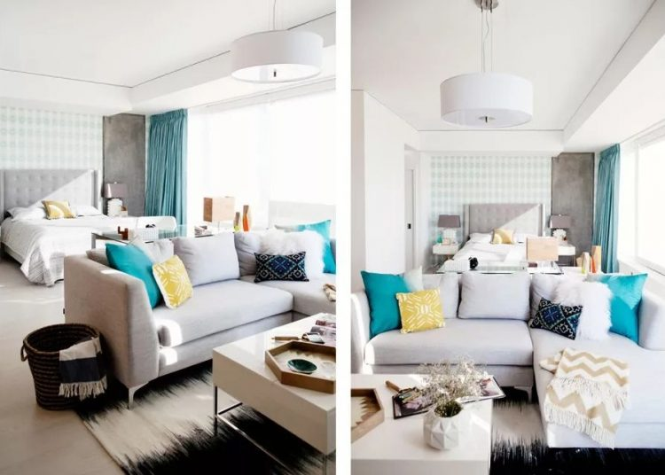 Separar espacios con una sala esquinera y otros muebles.