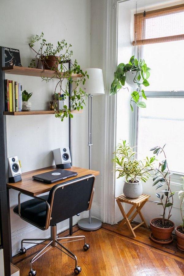 Librero con escritorio y repisas para libros, una solución para espacios pequeños