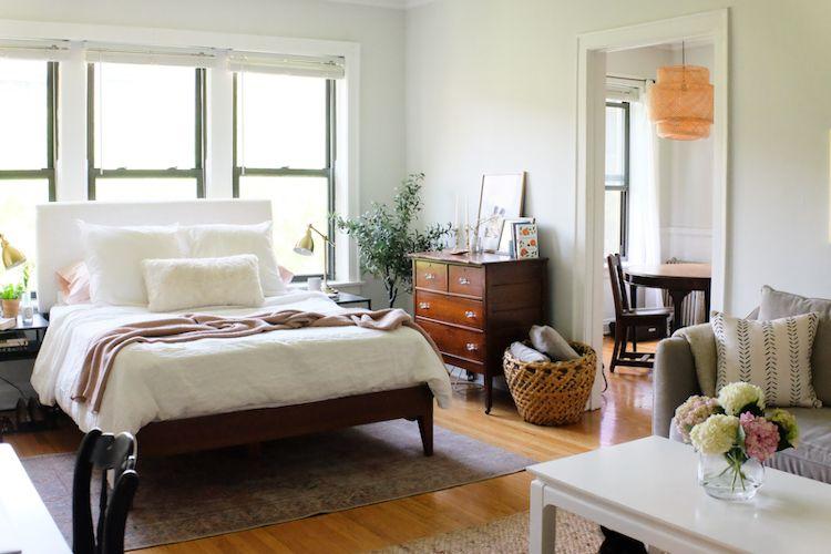 Nueva distribución de muebles: recámara espaciosa con espacio de circulación en ambos lados
