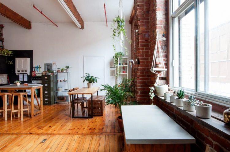 Loft con áreas integradas en un amplio espacio