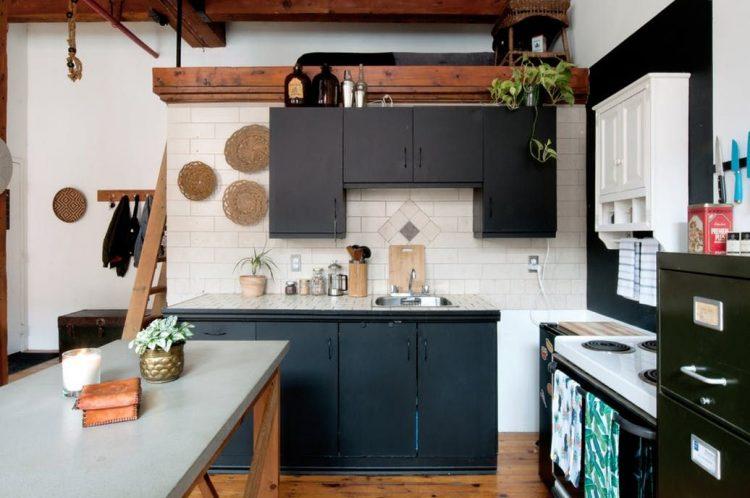 Diseño de la cocina del loft
