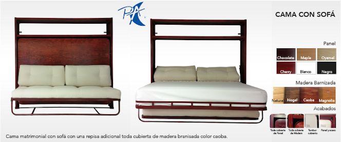 Plegart Camas Escondidas - Camas abatibles con sofá 1