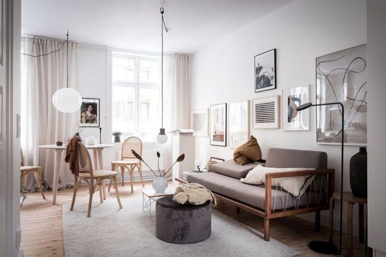 Comedor con mesa redonda, mueble ideal para departamentos pequeños
