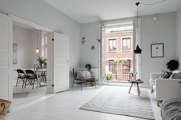 Ambiente principal donde funcionan la sala y recámara se conecta con la cocina y comedor