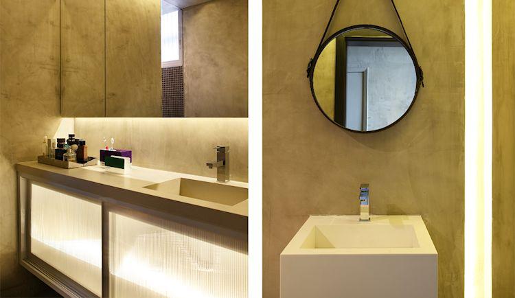 Departamento pequeño contemporáneo con paredes de concreto pulido 6