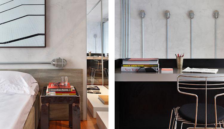 Departamento contemporáneo colorido con acentos en estilo industrial 4