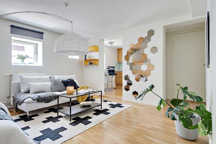 Decoración estudio departamento minimalista de 33 metros² 1